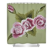 Pink Miniature Roses Shower Curtain