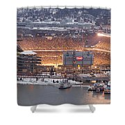 Pittsburgh 4 Shower Curtain by Emmanuel Panagiotakis