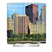 Pittsburgh Building Cluster Shower Curtain