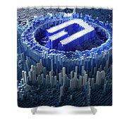 Pixel Dash Concept Shower Curtain