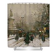Place De La Republique In Winter Shower Curtain