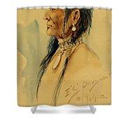 Plains Warrior Shower Curtain
