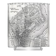 Plan Of The City Of New York Shower Curtain