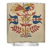 "Plate 4: From Portfolio ""folk Art Of Rural Pennsylvania"" Shower Curtain"