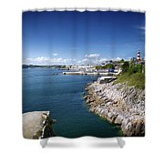 Plymouth Foreshore Shower Curtain