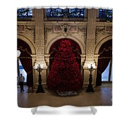 Poinsettia Christmas Tree The Breakers Shower Curtain