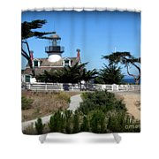 Point Pinos Lighthouse In Pacific Grove, California Shower Curtain
