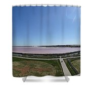 Pong Of Salt Water In Aigues Morte Shower Curtain