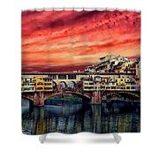 Ponte Vecchio Bridge Shower Curtain