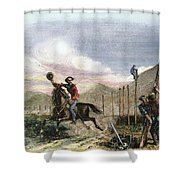 Pony Express, 1867 Shower Curtain