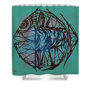 Pop Art - New Tropical Fish Poster Shower Curtain