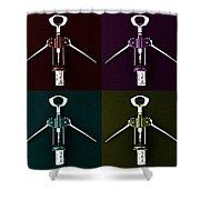 Pop Art Style Corkscrews. Shower Curtain