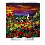 Poppies In Foy Shower Curtain