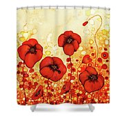 Poppin' Poppies #1 Shower Curtain