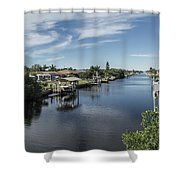 Port Charlotte Ackerman Waterway From Ohara Shower Curtain