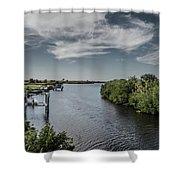 Port Charlotte Atlantus Waterway From Ohara Shower Curtain