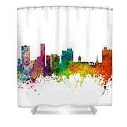 Port Elizabeth South Africa Skyline Shower Curtain