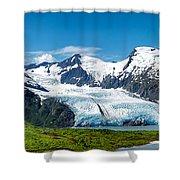 Portage Glacier Shower Curtain