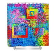 Portals Of Color Shower Curtain