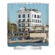 Portixol Marina Moored Boats Shower Curtain