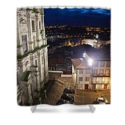 Porto By Night In Portugal Shower Curtain