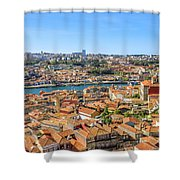 Porto Skyline Portugal Shower Curtain