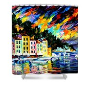 Portofino Harbor - Italy Shower Curtain