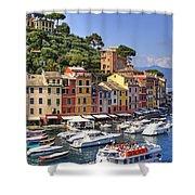 Portofino Shower Curtain by Joana Kruse