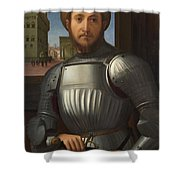 Portrait Of A Man In Armour Shower Curtain