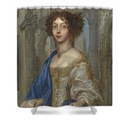 Portrait Of A Woman As Saint Agnes Shower Curtain