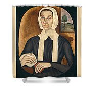 Portrait Of A Woman Shower Curtain