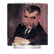Portrait Of Aa Stahovich 1911 Valentin Serov Shower Curtain