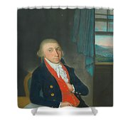 Portrait Of An American Sea Captain Shower Curtain