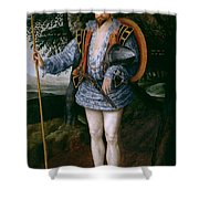 Portrait Of Captain Thomas Lee Shower Curtain
