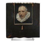 Portrait Of Cornelis Van Der Geest Shower Curtain