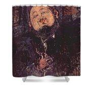 Portrait Of Diego Rivera 1914  Shower Curtain