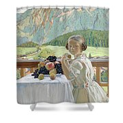 Portrait Of Irina Kustodieva Shower Curtain