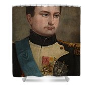 Portrait Of Napoleon Buonaparte Shower Curtain