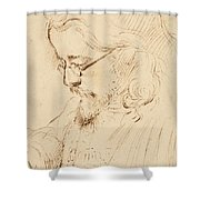 Portrait Of Samuel Palmer Head And Shoulders Shower Curtain