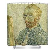 Portrait Of Vincent Van Gogh Shower Curtain