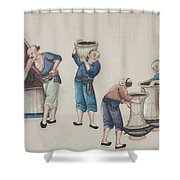 Portraying The Chinese Tea Industry Shower Curtain