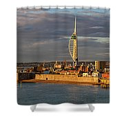 Portsmouth Harbour England  Shower Curtain