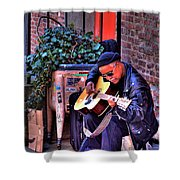 Post Alley Musician Shower Curtain