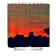 Post Sunset Sky  Shower Curtain
