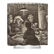 Potato Eaters, 1885 Shower Curtain