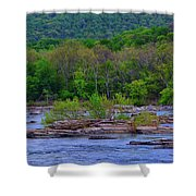 Potomac River Near Harpers Ferry Shower Curtain