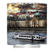 Prague By The Water Shower Curtain