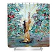 Praying Shower Curtain