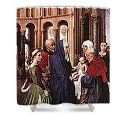 Presentation Of Christ Wga Rogier Van Der Weyden Shower Curtain