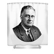 President Franklin Roosevelt Graphic  Shower Curtain